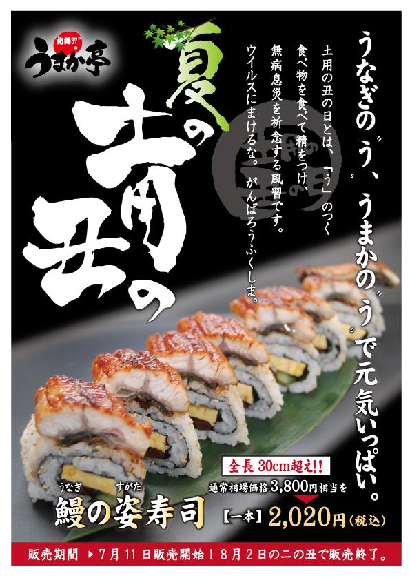 うなぎ姿寿司 うまか亭 福島 特大 土用の丑の日 夏